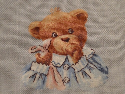 broderie,crochet,tricot,ourson,naissance